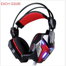 Casque Gaming Headset Headphones Rose Gold Kotion Each G3100 Over Ear Head Phones Cheapest Earphones LED Wifi Earphone With Mic