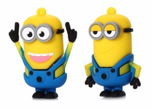 USB Flash Drive Minions flash disk 1gb 2gb 4gb Pendrive 8gb 16gb 32gb silicone cartoon USB Memory Stick 50pcs/lot(China)