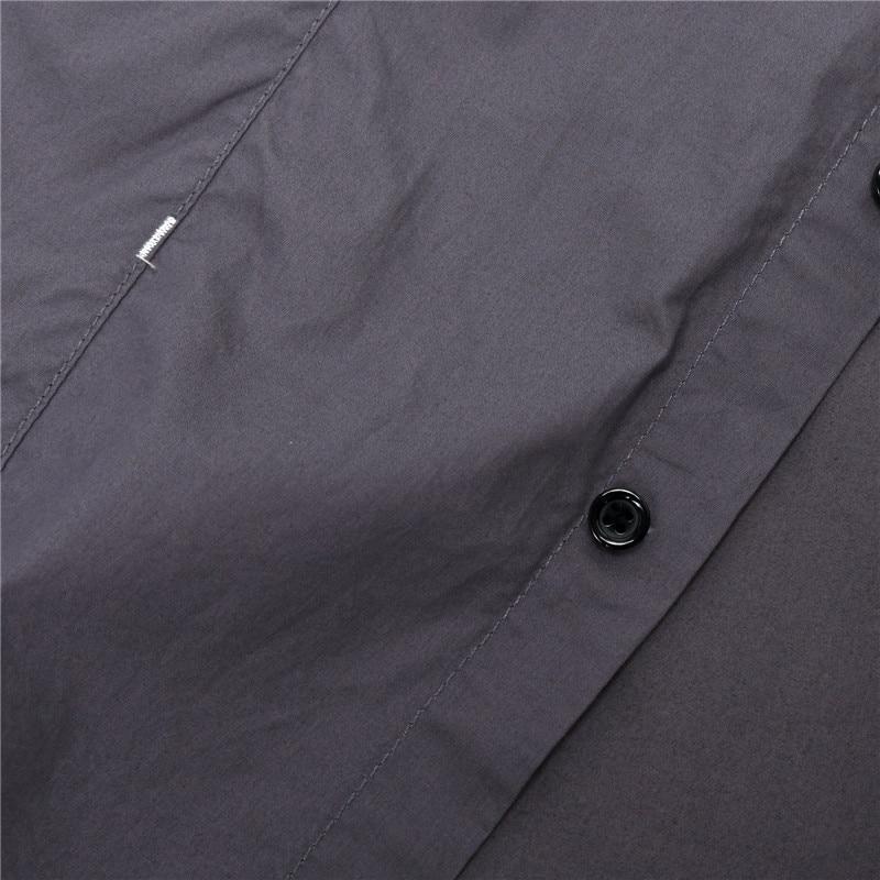 2018 New Men Cargo Shirt Casual 100% Cotton Man Solid Color Short Sleeve Shirts Work Shirt US Size S-XXXL (10)
