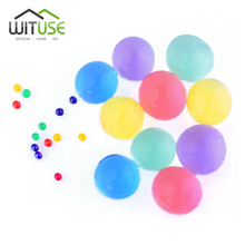 1000pcs 26mm Pearl Shape Soft Crystal Soil Mud Kids Toy Grow Water Balls Hydrogel Gel Water Beads Plant Cultivate Home Decor(China)
