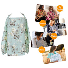 Breathable Nursing Cover Breastfeeding Towel Baby Blanket Poncho Cotton Mommy outdoors feeding Apron baby breast nursing covers(China)