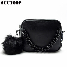Fashion handbags women shoulder bag designer plush ball chain leather bag small crossbody bags for lady messenger Sale bolsos