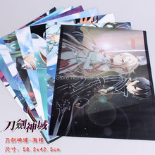 8pcs/lot Sword Art Online Posters SAO Anime Paintings 2 sizes 58x42CM 8 different designs High quality Embossed free ship