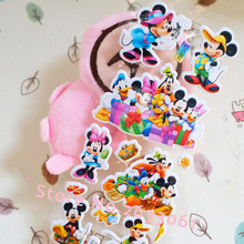 2017 Pegatinas 1pcs/mickey Mouse Cartoon Stickers Minnie Early Childhood Cognitive Reward Puzzle, 3d Stereo Bubble 7cm*17cm