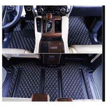 car-styling fiber leather car interior floor mat for toyota alphard Toyota Vellfire 2015 2016 2017 2018(China)