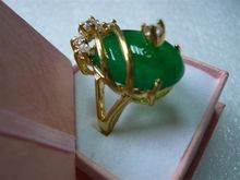 beautiful & charmming  green jades ring 18KGP(#7 8 9)