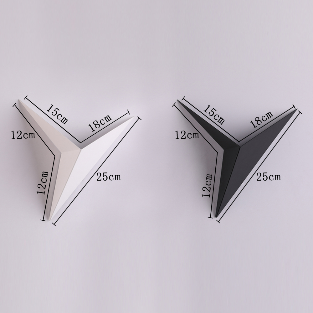 Modern minimalist triangle shape LED Wall Lamps  Nordic style Indoor Wall Lamps Living Room Lights 3W AC85-265V Simple Lighting