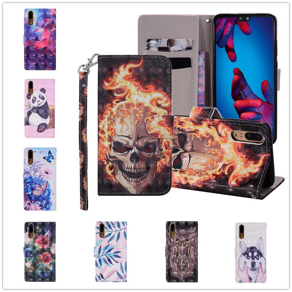 for Huawei P20 P30 Mate 20 10 Lite Pro Case Rope Cover Huawai Huewai Honor 10 Mate20 X Mate10 Stand Flip Lether Wallet Bag coque