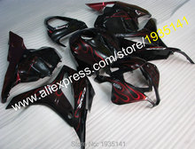 Hot Sales,For Honda CBR600RR F5 2009 2010 2011 2012 CBR 600RR 09 10 11 12 Red Flame Motorbike Full Fairing (Injection molding)(China)