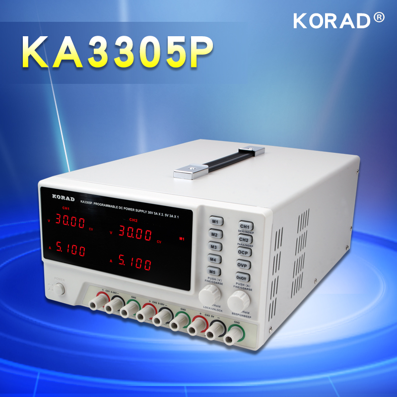 KORAD KA3305P - Programmable Precision Variable Adjustable 30V, 5A DC Triple Linear Power Supply Digital Regulated Lab Grade (2)