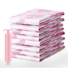 ROSEHOME 11PCS/Set Clothing & Wardrobe Storage Pump PE Flower Printed Blanket Compressed Organizer Seal Vacuum Bags for Clothes(China)