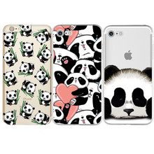 Panda Silicone Cover For iPhone 5 5S SE 6 6S 7 7 Plus For Samsung Galaxy S3 S4 S5 S6 S7 Edge S8 Plus J3 J5 A3 A5 2016 2017