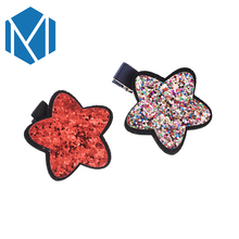 MISM Baby Girls Cute Cartoon Mouse Red Dot Bow Hairpins Lovely Kids Shiny Star Shape BB Clip Children Sequin Colorful Hairgrips(China)