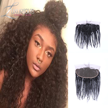 7A Full Lace Frontal Closure 13x4 Kinky Curly Wave Virgin Malaysian Human Hair Ear To Ear Top Lace Frontal Piece Wholesale Price
