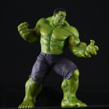 New PVC 10'' Big Marvel Avengers Hulk Action Figure Collectable Model Muscle Man Superman Crazy Toy Top Grade Gift DMX0036