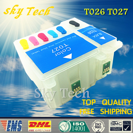 Empty refill cartridge suit for T026 T027 , suit for Epson  810 820 830 830U 925 935 ,  with ARC chips<br><br>Aliexpress