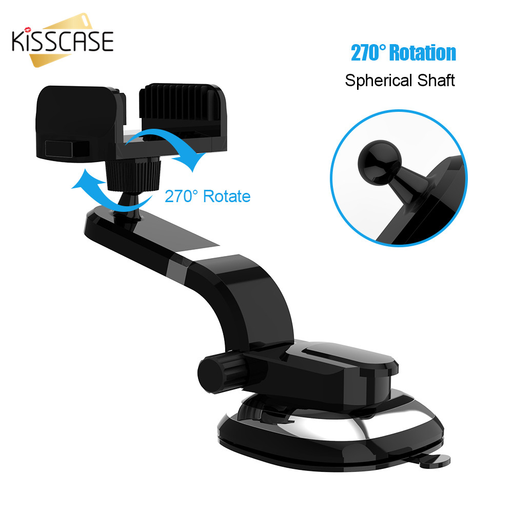 KISSCASE Universal Car Holder Stand iPhone X 8 6 6s 7 Plus Stand Flexible Stand Holder iPhone 8 plus 5 5S SE Phone Stand