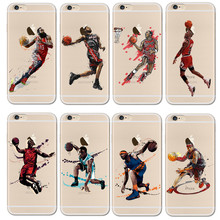 For NBA Basketball Phone Case for iphone 5 5se 6 6s 7 plus Cases Jordan 23 James Harden Curry Bryant Hard Back Cover NBA Jersey(China)