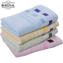 Beroyal Brand 2017 Hand towel -3pcs/set Bamboo Towel Plain Dyed Toalhas Face towels Solid face care breathable Towels 35*75CM(China)