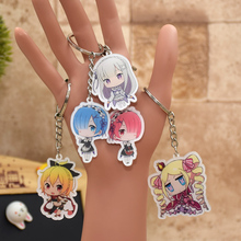 Rem Ram Re:Life in a different world from zero acrylic Keychain Action Figure 6 Styles Pendant  Key Accessories RE003 LTX1