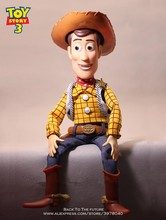 Disney 43 cm Toy Story 3 Talking Woody acción figuras modelo Anime muñeca  decoración PVC colección figurita modelo para niños 79f3d719b46