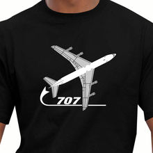 2017 New Arrival Men's Fashion Funny Tees Men Short Aeroclassic Boeing 707 Airliner Inspired Print T Shirt Men