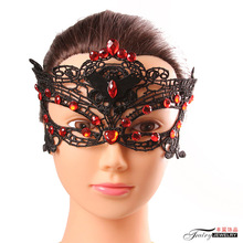 Western Black Lace Brown Castor Female Mask Fantastic Vampire Bat Lady Masquerade Mask Hallowmas Accessories Blindfold
