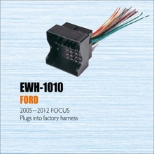 Plugs Into Factory Harness For Ford Focus 2005~2012 - Radio Power Wire Adapter / Aftermarket Stereo Cable / Male DIN To ISO