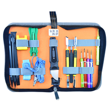 Hot 19 in 1 Tech Tool Kits Leather Bag Screwdrivers Tweezers Repair Opening Multi Hand for iPhone 7 6s 6 5s 4(China)