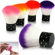 1pcs Colorful Nail Art Salon Acrylic & UV Gel Dust Cleaner Brush Tools For Nail Art Decorations Random Colors 5H5V(China)