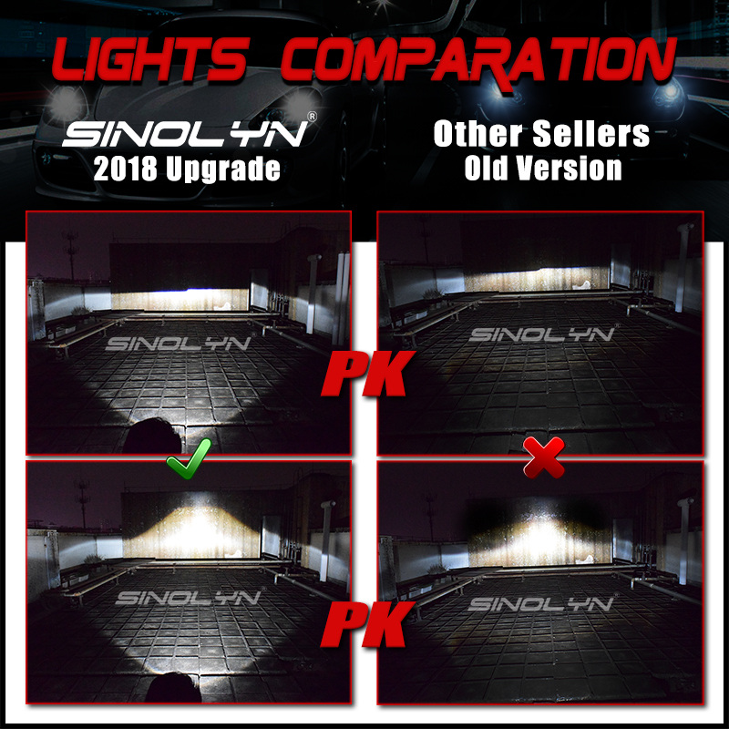 lights comparation_