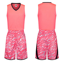 Free Shipping New 2017 Pink Camouflage Style Women Girls Customized Basketball Jerseys Sets Team Club Uniform Shirt Singlet Suit(China)