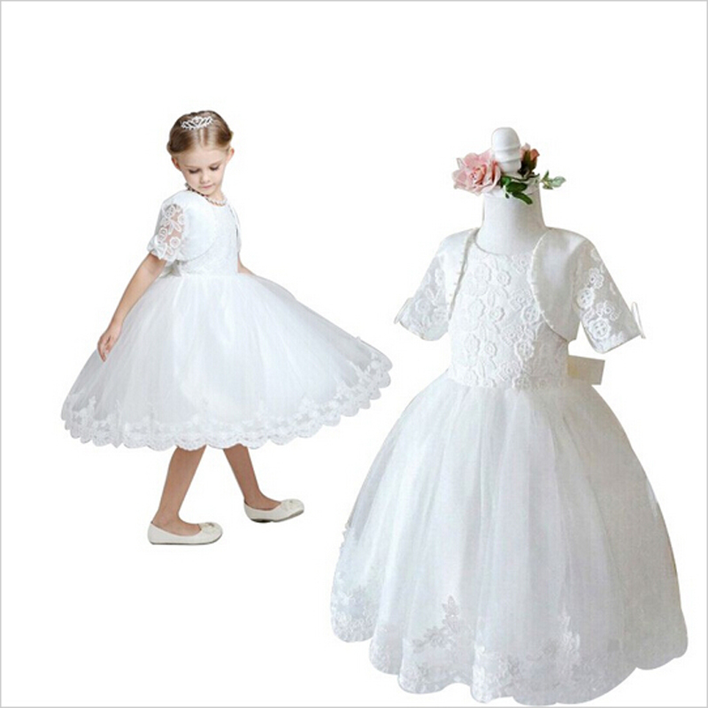 2017 Children New Girls Dresses For Pageant Dance Party Ceremonies Girl White Dress For Wedding Girl Clothes Christmas <br><br>Aliexpress