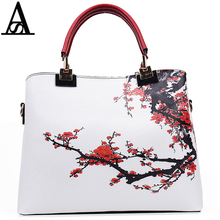 Aitesen Retro China Wind Plum Blossom Painting Louis Luxury Brand Bags Sac As Nouvelle Collection Highlight Temperament Leather(China)