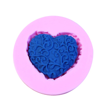 Silicone Fondant Cake Mold 3D Heart Shape Flower Cake Chocolate Candy Jello Decorating Moulds Kitchen Baking Tools Soap Molds