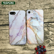 YESPURE Marble Mobile Phone Covers for Iphone 7plus Case Anti Stress Cheap Silicone Cell Phone Holders Soft Couqe Phone Shell