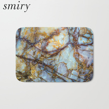 Smiry dust proof flannel light thin soft mats colored 3d marble printing carpets water absorption kitchen entrance door rugs