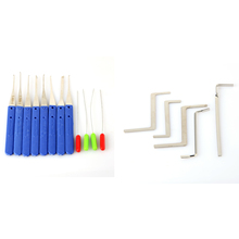 Locksmith Value Two Set 5pcs Wrenth Tension Tools And 12pcs Klom Broken Key Extractor Tools P00