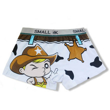 Kids pure cotton panties teenage boys underwear Cartoon Boxer Briefs High quality comfortable children panties white shorts(China)