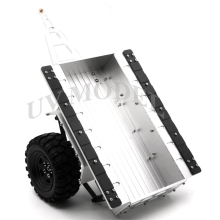 High Quality 1:10 Scale Aluminum Trailer For SCX10 CC01 F350 HILUX 90034 RC4WD D90 RC Crawler