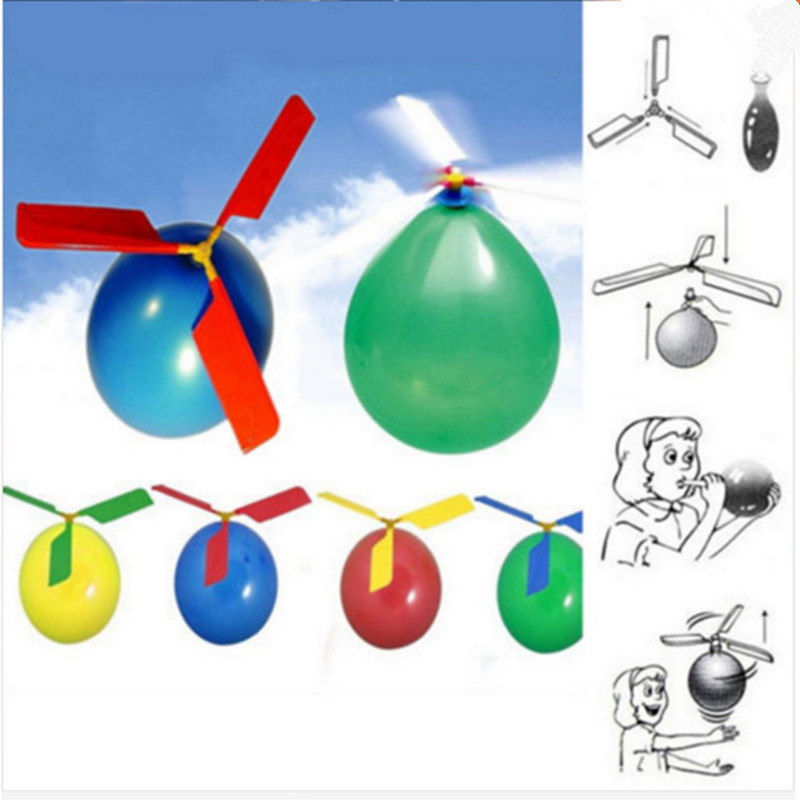 Children toys Latex Aircraft Helicopter balloon birthday party kid party toy Environmental protection material production 10pcs(China (Mainland))