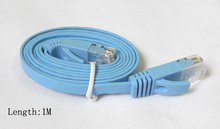 Wholesale 1m 2m 3m 5m CAT6 RJ45 cable Flat UTP 10/100/1000Mbps Ethernet Network Cable Networking cable For PC Router DSL Modem