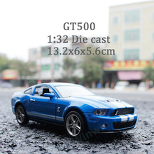 1:32 Die Cast Model Collectors Mustang GT500 Jugetes Para Ninos Car Toys Children(China)