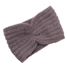 New Arrival Grey Korean Women Winter Warm Braided Knit Wool Headband Hair Bands Bohemia High Quality