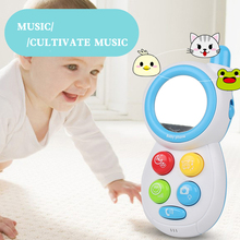 Baby Musical Sounds Phone Toys Pretend Mobile Telephone Kids SmartPhone Learning Educational Toys Children's Phone Toy Gift(China)