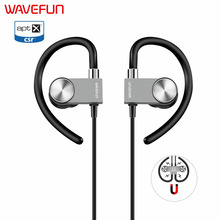 Wavefun X-Buds Metal wireless bluetooth earphone 120mAh magnetic waterproof with mic black/gray headphones for xiaomi iPhone(China)