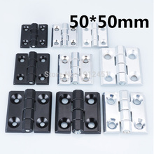Hinge CL218 HL050 50*50mm black/white Zinc alloy Bearing hinge apply to Switch cabinet Electric cabinet(China)