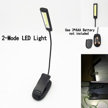 Mini COB LED Clip On Adjustable Book Reading Light Lamp Super Bright For Kindle Touch USB table LED Desk Light Lamp
