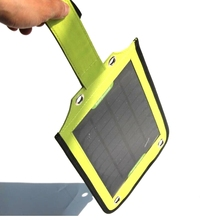 3.5W  Portable Solar Charger Solar Panel Charger For Mobile Phone /Power Bank Battery Outdoor Green Power Supply Free shipping