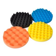 SHINA 4Pcs 7 inch Buffing Polishing Sponge Pads Kit For Car Polisher Buffer(China)
